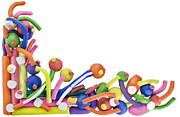 Group Sculptures - Abstract color  plasticine background by Aleksandr Volkov