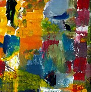 Splatter Paintings - Abstract Color Relationships ll by Michelle Calkins