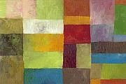 Textural Paintings - Abstract Color Study lV by Michelle Calkins