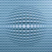 Op Art Painting Posters - Abstract Composition Poster by Peter Szumowski