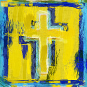 Crucifix Art Posters - Abstract Crosses Poster by David G Paul