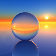 Lay Digital Art - Abstract Crystal Ball on Future Horizon by Dan Collier