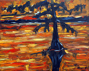 New Orleans Oil Paintings - Abstract Cypress by Prankearts by Richard T Pranke