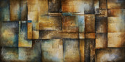 Rectangles Paintings - Abstract Design 100 by Michael Lang