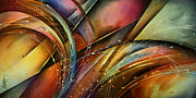 Retro Paintings - Abstract Design 111 by Michael Lang