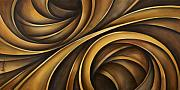 Brown Tones Prints - Abstract Design 34 Print by Michael Lang