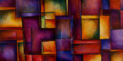 Multicolor Paintings - Abstract Design 93 by Michael Lang