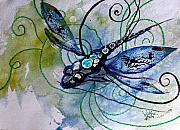 Scarpace Prints - Abstract Dragonfly 10 Print by J Vincent Scarpace