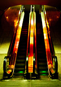 Escalator Framed Prints - Abstract Escalator Framed Print by Harry Neelam
