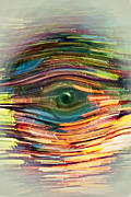 Susan Leggett Digital Art Metal Prints - Abstract Eye Metal Print by Susan Leggett