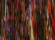 Textured Paint Digital Art Originals - Abstract Faces in Crowd by J Burns