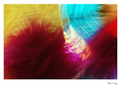 Xoanxo Cespon Prints - Abstract Feathers 5 Print by Xoanxo Cespon