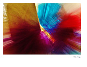 Xoanxo Cespon Prints - Abstract Feathers 6 Print by Xoanxo Cespon