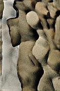 Stone Digital Art Originals - Abstract female figure in grey  by Hana Shalom