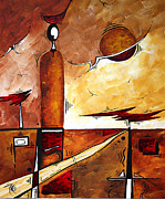 Sophisticated Woman Posters - Abstract Figurative Art AFRICAN FLAME by MADART Poster by Megan Duncanson