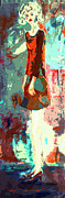 Abstract Figure The Odd Girl By Ginette Print by Ginette Fine Art LLC Ginette Callaway