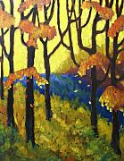 Original  By Artist Paintings - Abstract Forest by Richard T Pranke