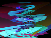 Edges Digital Art - Abstract Funnels by Linda Phelps