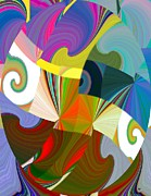 Curves Digital Art - Abstract Fusion 24 by Will Borden