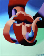 Teapot Paintings - Abstract Futurist Teapot by Mark Webster