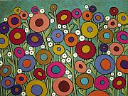 Folk Art Mixed Media - Abstract Garden by Karla Gerard