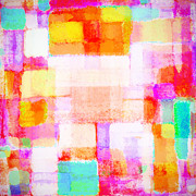 Illustration Art Pastels - Abstract Geometric Colorful Pattern by Setsiri Silapasuwanchai