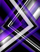 Shine Art - Abstract Geometry with Purple and White lines by Mario  Perez