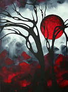 Blood Moon Posters - Abstract Gothic Art Original Landscape Painting IMAGINE I by MADART Poster by Megan Duncanson