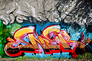 Tag Paintings - Abstract Graffiti fragment on the textured wall by Yurix Sardinelly