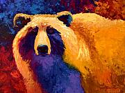 Abstract Wildlife Paintings - Abstract Grizz II by Marion Rose