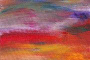 Sunset Scenes. Prints - Abstract - Guash and Acrylic - Pleasant Dreams Print by Mike Savad