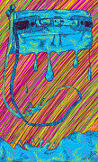 Abstract Handbag Posters - Abstract Handbag Drips Color Poster by Kenal Louis
