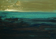 Moody Paintings - Abstract Horizon by Iris Lehnhardt