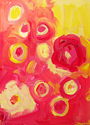 Warm Colors Painting Prints - Abstract  III Print by Patricia Awapara