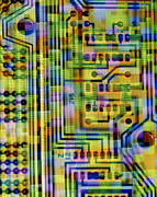 Integrated Prints - Abstract Image Of A Circuit Board. Print by Tony Craddock
