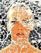 Hallucination Prints - Abstract Image Of Woman With Shattered Personality Print by Mehau Kulyk