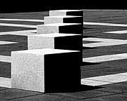 Op Art Photo Posters - Abstract in Black and White Poster by Tam Graff