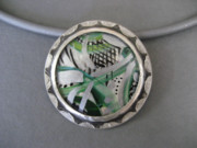Paint Jewelry - Abstract in Green by Brenda Berdnik