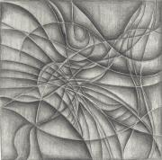 Curves Drawings Posters - Abstract in Pencile Poster by Karen Musick