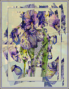 Abstract Iris Posters - Abstract Iris Poster by Mindy Newman