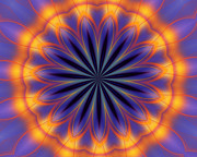 Geometric - Abstract kaleidoscope by David Lane