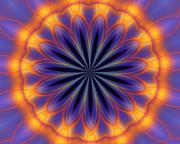 Abstract Kaleidoscope Print by David Lane