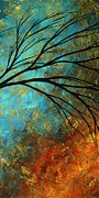 Landscape Artwork Paintings - Abstract Landscape Art PASSING BEAUTY 4 of 5 by Megan Duncanson
