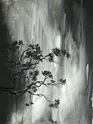 Asian Paintings - Abstract Landscape Zen Original Painting by MADART by Megan Duncanson