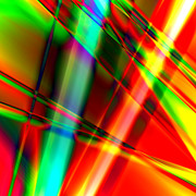 Susan Leggett Art - Abstract Light Colors by Susan Leggett