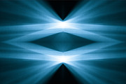 Photons Digital Art - Abstract Light by Kevin Woolgar