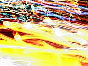 Motion Prints - Abstract light Print by Tony Cordoza