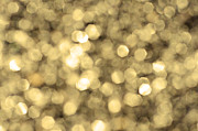 Twinkle Posters - Abstract Lights golden Poster by Margaret Pitcher