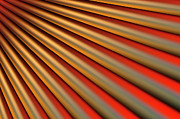 Vibrant Metal Prints - Abstract Line Pattern Metal Print by Ralf Hiemisch