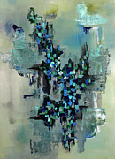 Crowds Paintings - Abstract No. 48 by Paul Harrington